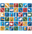 attributes of art icons vector image vector image