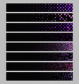 banner background set - rectangular dot pattern vector image vector image