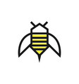 bee logo design template linear geometric style vector image vector image