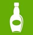 big bottle icon green vector image vector image
