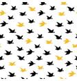 black crane birds seamless pattern with birds vector image vector image