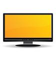 black lcd monitor vector image
