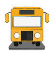 bus frontview icon image vector image vector image