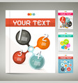 business brochure set leaflet infographic design vector image