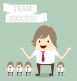 businessman group with words team and success busi vector image vector image