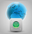 button and the earth vector image