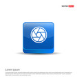 camera shutter icon - 3d blue button vector image vector image