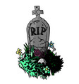 cartoon image of grave vector image vector image