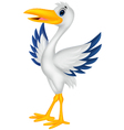 Cartoon stork posing vector image