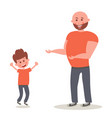 cheerful smiling father with own son happy son vector image