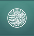 circle icon fingerprint security concept vector image
