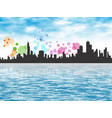 city shoreline 1 vector image vector image