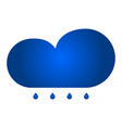 cloud with rain icon vector image vector image
