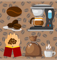 coffee plantation beans drink cafe coffee-bean vector image vector image