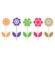 colorful natural flower icons vector image