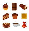 confectionery icon set vector image