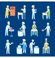 Cooks Flat Icon Set vector image vector image