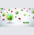 covid19-19 coronavirus outbreak design with fallin vector image vector image