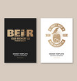 craft beer badge poster flyer template card vector image