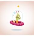 cute alien character vector image vector image