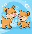 cute bear on abstract background vector image vector image