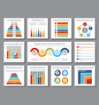 data graphics analytics bar and budget graph vector image vector image
