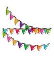 decorative pennants isolated vector image