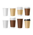disposable coffee cup blank template of vector image vector image