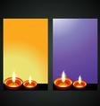 diwali diya banner vector image vector image