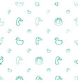 duck icons pattern seamless white background vector image vector image
