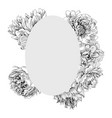 elegant frame with peony flowers vector image vector image