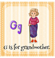 Flashcard letter G is for grandmother vector image vector image