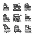 food truck car street catering fast delivery vector image vector image