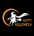 halloween witch greeting banner vector image vector image