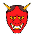 hannya mask icon cartoon vector image vector image