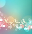 happy new year on bokeh light background vector image vector image