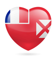 Heart icon of Wallis and Futuna vector image vector image
