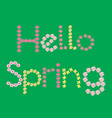 hello spring flower lettering vector image vector image
