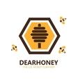 honey logo or symbol icon vector image vector image