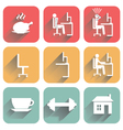 Icons of objects of daily routine and office vector image vector image