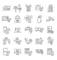 intelligent building icon set outline style vector image vector image
