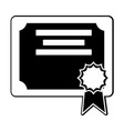 isolated certificate design vector image