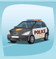 isolated patrol car vector image vector image