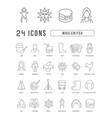 line icons maslenitsa vector image