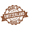made in switzerland round seal vector image vector image