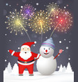 merry christmas background santa claus vector image vector image