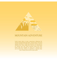 Mountain camp logo design template Adventure vector image