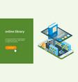 online bookstore banner 01 vector image vector image
