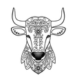 Ornamental White Bull vector image vector image