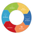 Pie chart with pictograms in flat style vector image vector image